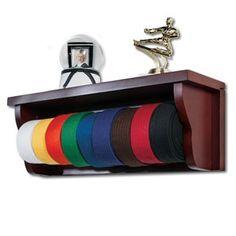 Martial Arts Shelf Belt Display