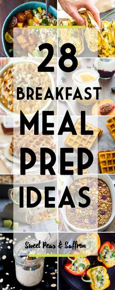 Healthy breakfast meal prep ideas to start your day off on the right path. Prepping your breakfast ahead will save you money, reduce your stress, and help you eat healthier!