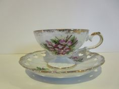 Cup and Saucer by HeritageSisters on Etsy
