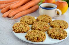 Try these easy, healthy apple and carrot oatmeal cookies that are easy to make and are a great fast, on the go breakfast cookie recipe for busy parents. Oat Cookie Recipe, Breakfast Cookie Recipe, Apple Breakfast, Oatmeal Cookie Recipes, Best Breakfast Recipes, Healthy Oatmeal Cookies, Healthy Cookie Recipes, Healthy Muffins, Healthy Desserts
