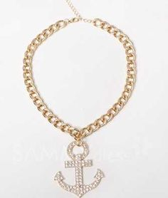 DesignzByMsJ...Unisex Gold bold Anchor Pendant with chain $15.  Order @ designzbymsj.storenvy.com