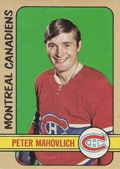 Info on the hockey career and the Topps and O-Pee-Chee hockey cards for Pete Mahovlich. Mahovlich was most successful with the Montreal Canadiens. Montreal Canadiens, Hockey Teams, Ice Hockey, Hockey Cards, Baseball Cards, Nhl, Hockey Hall Of Fame, Old Montreal, Nfl Fans