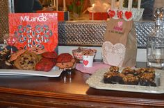 Valentine's Day Recipes: Puppy Chow, M&M Heart Brownies, and Cake Batter Cookies! Puppy Chow, Chow Chow, Valentines Day Tablescapes, Cake Batter Cookies, Cacti And Succulents, Business Design, Brownies, Garden Design, Sweet Treats