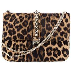 VALENTINO Leopard print shoulder bag ($2,775) ❤ liked on Polyvore