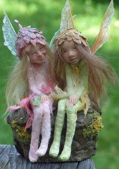 Two shy, cute, little fairies sisters created by Chopoli