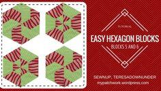 Video tutorial: Hexagon quilt blocks 5 and 6