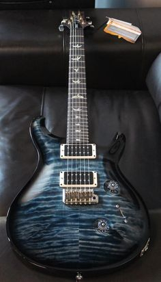 PRS Guitars CU24 with a Quilt Top in a custom color Faded Whale Blue Smokeburst #PRSGuitars