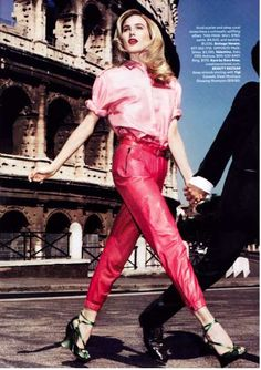 Simply Red Harper's Bazaar US September 2010 Spread - Rome