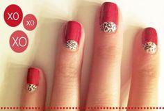 Uñas con una combinación perfecta, animal print y rojo pasión - http://xn--decorandouas-jhb.com/unas-con-una-combinacion-perfecta-animal-print-y-rojo-pasion/