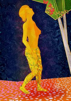 NOK337.02 · Digital Arts, Digital Painting by Svein Ove Hareide (Norway). Prints available from NOK337.02 via #Artmajeur. Licenses available from NOK313 via #Artmajeur. #Digital Arts #DigitalPainting #Figurative #Fantasy #Girl #Nude #Butterflies #Walking #Park