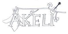 Logo-Entwurf für die Sängerin AKELI - www.akeli.info