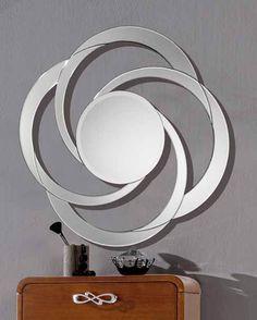 Espejos modernos de diseño modelo BRASILIA. Decoracion Beltran, tu tienda de espejos de cristal mas completa en internet.