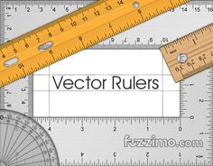 Time for some geometry now ;) Here's a set of vector rulers, triangles, L-shapes and protractors. It includes color, wood, steel and transparent plastic vector rulers in both metric and inch measure systems. The sizes are: ruler (12 inches / 30 centimeters); 60 degree triangle (10 inches / 25 centimeters); 45 degree triangle (6 inches / 15cm); L-shape ruler (12 inches / 30 centimeters); 180 degree protractor;