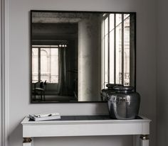 Black Framed Antiqued Mirror Custom Mirrors Wall Design Projects