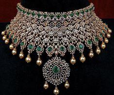 Fancy Jewellery, Latest Jewellery, Gold Jewellery Design, Diamond Jewellery, Trendy Jewelry, Fashion Jewelry, Diamond Necklace Set, Diamond Choker, Wedding Jewelry Sets
