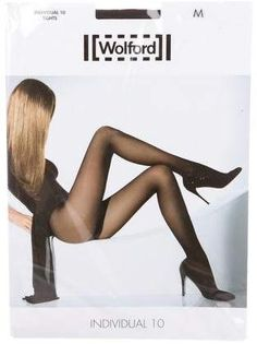 Wolford Individual 10 Tights w/ Tags - ShopStyle Hosiery Wolford Tights, Sheer Tights, Black Tights, Sexy Legs And Heels, Fashion Tights, Sexy Stockings, Beautiful Legs, Belle Photo, Women Lingerie