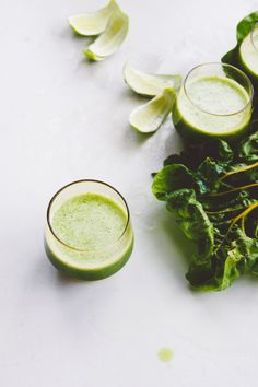 "glow, baby, glow | cucumber, honeydew + kale shots from jules aron's book, ""zen and tonic"" 