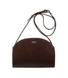 6d7e1a10f8 Half-moon bag Dark chestnut brown - A.P.C. WOMEN Best Leather Wallet