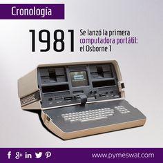 #CronologíaDigital En 1981 se lanzó la primera #computadora portátil: el Osborne 1
