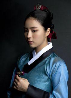Hanbok, Korean traditional clothing, black, white, indigo