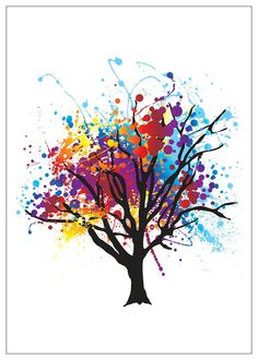 tree art color - Google Search