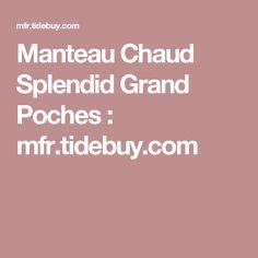 Manteau Chaud Splendid Grand Poches : mfr.tidebuy.com