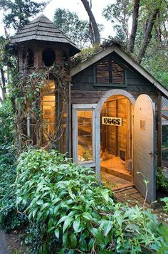 Garden shed would match well with lighthouse