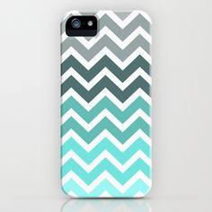 Tiffany Fade Chevron Pattern iPhone & iPod Case by RexLambo - $35.00