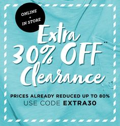 Extra 30% Off Clearance + Free Shipping on $75+ at Aeropostale