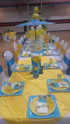 Super baby shower ideas for boys mickey mouse center pieces 67 Ideas Ducky Baby Showers, Baby Shower Duck, Rubber Ducky Baby Shower, Baby Shower Yellow, Baby Shower Vintage, Baby Shower Table, Baby Shower Cakes, Baby Shower Parties, Baby Shower Themes