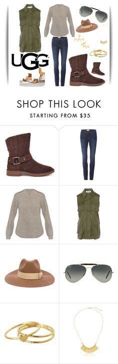 """""""The New Classics With UGG: Contest Entry"""" by marielle80 ❤ liked on Polyvore featuring UGG, Frame Denim, Alexander Wang, Elizabeth and James, PS Paul Smith, Ray-Ban and Gorjana"""