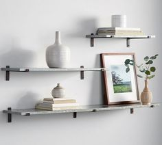 Menlo Galvanized Shelves | Pottery Barn