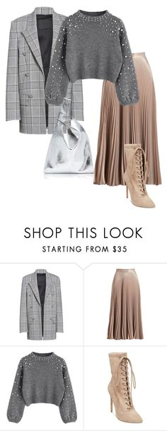 """""""grey"""" by getdressedwithme on Polyvore featuring moda, Alexander Wang, A.L.C., Steve Madden i Hayward"""