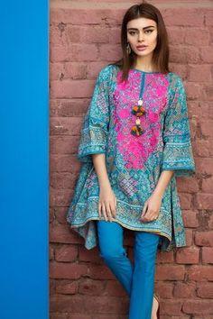 Khaadi – - Lawn 2017 Vol 1 - Unstitched Simple Pakistani Dresses, Pakistani Dresses Online, Pakistani Fashion Casual, Pakistani Dress Design, Pakistani Outfits, Indian Dresses, Indian Outfits, Pakistani Designers, Stylish Dresses