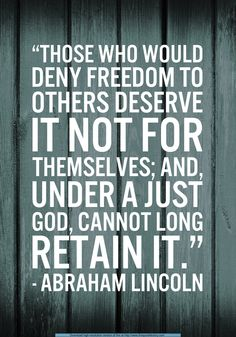 Those who would deny freedom to others...