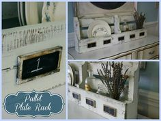 Pallet plate rack