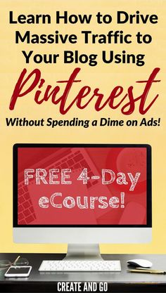 Drive massive traffic to your blog with Pinterest without spending a dime on ads! Enter your email and get our FREE 4-Day eCourse on Pinterest for Business for Beginners: https://pinteresttrafficavalanche.com/pinterest-ecourse-optin11761313