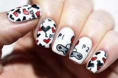 I am always up for a guest post on Polished By Leanne because Leanne is so  lovely and she has so much faith in me.    I just broke my nails and had to go to shorties after having beautiful,  long nails and it was bumming me out a bit doing nail art on short nails,  so it had to be nerdy to give me a little bit of cheer and also, the last  time I guested on here I did a nerdy manitoo. Valentines Day has just  happened (not that we celebrate it) and my other half's birthday is this  wee...
