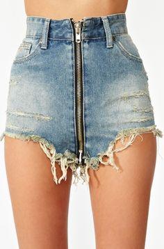 deep zipper shorts