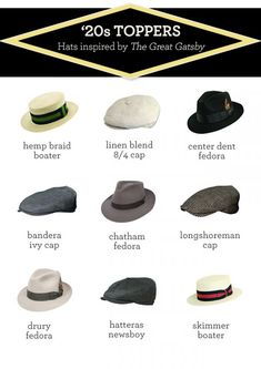 1920s Toppers: Great Gatsby Hats by A Tip of the Hat | Details Network