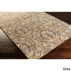 Candice Olson Modern Classics Hand-tufted Contemporary Ivory Floral Rug (8' x 11')