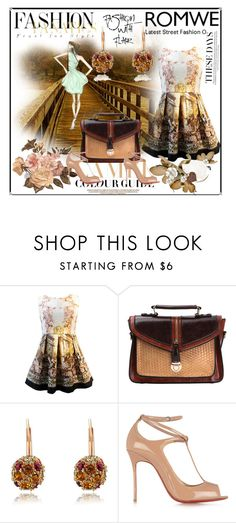 """""""Romwe 6"""" by dinka1-749 ❤ liked on Polyvore featuring Zara, Christian Louboutin and vintage"""