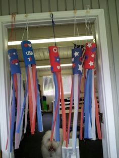 of July Wind Socks Patriotic Crafts, July Crafts, Holiday Crafts, Sock Crafts, Crafts For Kids, Arts And Crafts, Summer School, Summer Kids, Preschool Ideas