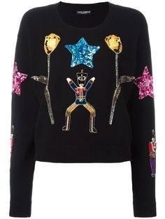 DOLCE & GABBANA Wonderland appliqué jumper. #dolcegabbana #cloth #jumper
