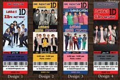 1D One Direction Birthday Party Invitation Ticket by mimseyy