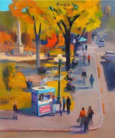 "This one's for SantaFe. Bernard Marks' ""Autumn on the Plaza."""