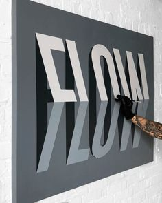 Toronto-based graphic designer and letterer Ben Johnston produces massive lettering artworks often playing with layering, perspective and three-dimensional effects. More lettering artworks Visit his website Wayfinding Signage, Signage Design, Environmental Graphics, Environmental Design, Typographie Inspiration, Displays, Hand Drawn Type, Wall Design, Design Design