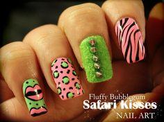 Bubblegum Pink & Neon Green.