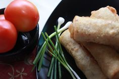 Lumpia Goreng. A Chinese - Indonesian food originally from Central Java. Very well known on Javanese people as a cookies. usually ear with a tomato sauces and scallion. This picture is shot in my kitchen with my Canon EOS 650D