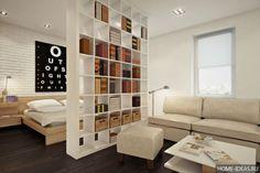 Как разделить комнату на две зоны (22 фото), идеи зонирования квартир